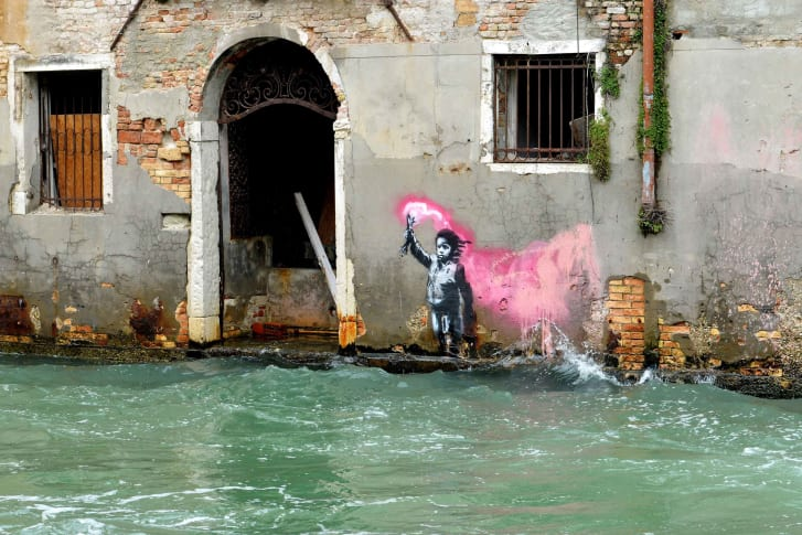 Banksy pops up in Venice