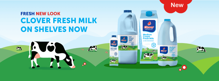 Why is the Clover milk bottle now blue?