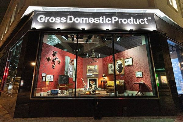 A look at Banksy's new pop-up shop; Gross Domestic Product