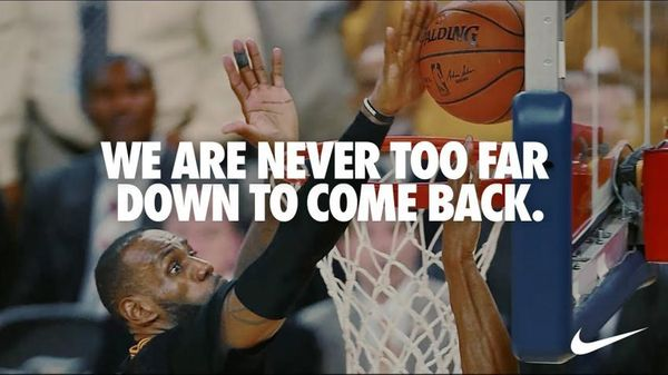 Nike: Never too far down